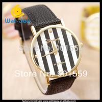 2014 Hot sale stripe Geneva watch women (WJ-1416)
