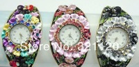 Item: 188007 7 Colors Watch New 2014 Dress Watch Bracelet Women Rhinestone Watches Wristwatch Quartz Watch