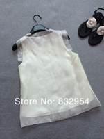 2014 new summer women silk organza skirt vest cotton mesh