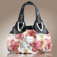 Factory sale 2014 new women spring bags fashion flower pattern PU leather casual handbags totes for female free shipping Q77