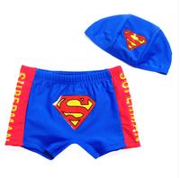 Male child swim trunks super man child boxer swimming trunk swimwear baby swimwear big boy