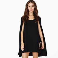 vestidos black white desigual vintgage maxi  Magic baby cloak of paragraph dress o-neck elegant chiffon haoduoyi party dresses