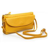 2014 women's cowhide day clutch genuine leather clutch bag clutch wallet one shoulder cross-body bags female  Free Drop shipping