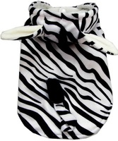 New 2014 Pet Products Cute Zebra Costume Dog Clothes Stripe Jumpsuit Warm Tracksuit Cosplay Zebra Free Shipping