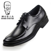 2014 male leather genuine leather lacing shoes trend of the men's business formal shoes