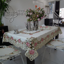 popular pink floral tablecloth