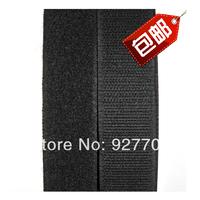 """(CM776) 25 Meters Black Sew On Velcro Roll 1"""" Wide Hook Loop Tape 25mm"""