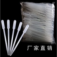Free shipping 100Pcs Plastic Disposable 5ML Transfer Pasteur Pipettes Pipet Dropper