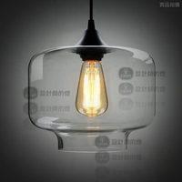 Modern brief bar fashion lamps crystal candy jar pendant light yc