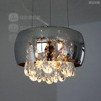 Brief modern bedside entranceway table lamp crystal teardrop pendant light mirror