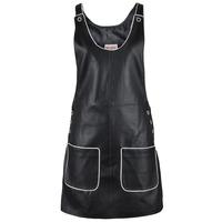 2014 fashion black sleeveless leather vest women dress