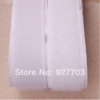 """(CM780) Lot 25 Meters 25mm White Self Adhesive Velcro Roll 1"""" Wide Hook Loop Tape"""