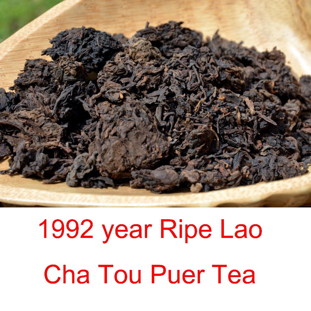 92 years Lao Cha Tou Puer Tea, ripe puerh shu cha, yunnan pu-erh tea, free shipping, chinese original tea, high quality(China (Mainland))