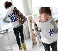 Nb46 2013 cardigan hooded zipper women's sweatshirt outerwear belt badge