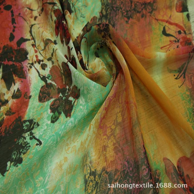 Manufacturers selling watermark chiffon fabric fashion fabrics 50 d cheap chiffon material shaoxing spot 10240 sell(China (Mainland))