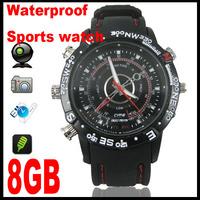 Real 8GB waterproof watch Camera 1280*960 MINI DV DVR sprots camera