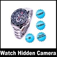 1080P Sound Activation mini Watch hidden Camera Waterproof IRW502 4/8/16GB