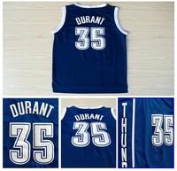 Oklahoma City 35 Kevin Durant Basketball Jerseys Brand Cheap Blue REV 30 Embroidery Logo Basketball Jersey