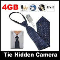 Polyester 4GB Mini Hidden Neck Tie Covert Camera 720 x 480 with Wireless Remote control