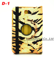 Camouflage Leopard Zebra Tiger pattern 200pcs/lot Leather 360 Degree Rotating Cover Case for Samsung Galaxy Tab 3 7.0 SM-T210R