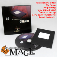 Go Change by N2G & Leo Xing / close-up street professional card magic tricks products / free shipping  / card to envelope trick