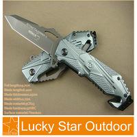 Boker X17 pocket knives Utility Camping Folding blade titanium blade Aluminum handle rope cutter knife freeshipping 440C 57HRC