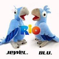 (1 SET OF 2) The Movie Rio BLU & JEWEL Plush Figure Stuffed Doll Soft Toy collectible