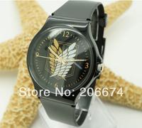 NEW Unisex Attack on Titan design analog watch#0031(black).Quartz watch.Wristwatches+free shipping