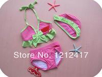 Lovely Strawberry Bikini for Little Girl Bathing Wear Toddler Girls' Swimsuit Cute Strawberry Bikini TWO-Piece Swimwear