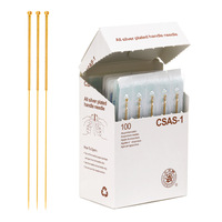 Sterile acupuncture needles full gold plated acupuncture needles single retainer 10 box  wholesale