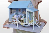 "Learning & Education Wooden Toys DIY Dollhouse Miniature ""Happiness Coast House "" Kids 3D Assembling Doll House Casas de Madeira"