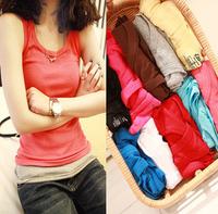 Female autumn tank spring long design vest basic shirt spaghetti strap vest female basic vest 100% cotton