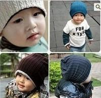wholesale 10pcs/lot thread kids hats infant cap Cotton Beanie children baby Hat H03