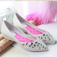 Women's shoes women's shoes calf skin cow rhinestone flat high quality women's shoes