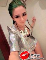 Fashion fashion female singer ds costume costumes dj laser skin set