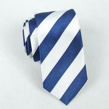 - 2014 Fashion Student Slim Tie 5cm Casual Tie blue and white stripe Narrow Necktie(China (Mainland))