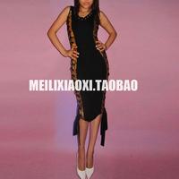 Small fashion rope bronzier sleeveless vest sexy one-piece dress