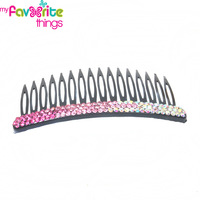 New Designer Fashion Plain Bling Rhinestone Hair combs Styling Tools Headwear Accessories For Women Girls Jewelry  Free Shipping