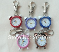 1pcs/lot new alarm clock shape Quartz Pocket watches necklace watches keychain watches for Woman ladies girls children boy H42