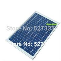 2PCS 20W 18V Polycrystalline  Solar Panel used for 12V photovoltaic power home system, 20Watt 20WP 12VDC PV Poly solar Module