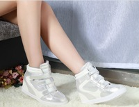 The new 2014 high shoes Han edition tide female Velcro increased in women's shoes Wedge movement leisure shoes