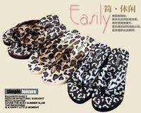 AliExpress new fashion personality attractive woman leopard spots flip flops E109