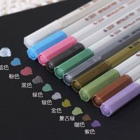 Wholesale,(1 Lot=10 pcs different colors ) DIY Wedding Photo Albums Color Pens Diary Decorative Water Chalk Pen Markers Pen