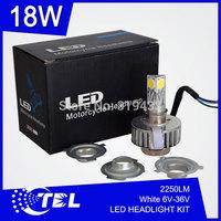 20pcs/lot LED H4 H6 H7 Motorcycle Bike Headlamp 9V-16V 1650LM Universal Motorbike Scooter Headlight