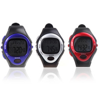 2014 Wristwatches Men Women Dress Watches Pulse Heart Rate Monitor Calorie Counter Fitness Sport Exercise Watch Red Silver Blue
