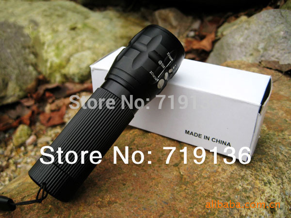 Free shipping cheaper and practical 2000Lumens High Power Torch Zoomable LED Flashlight camping light led camping light(China (Mainland))