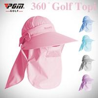 New arrival pgm golf ball cap women's sunbonnet sun 4 usage anti-uv muffler scarf