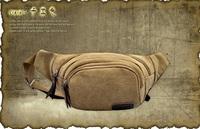 Men Fashion Waist Pouch Travel Hip Purse Bag On Belt Waist Pack  Casual canvas waist pack multifunctional outdoor chest pack