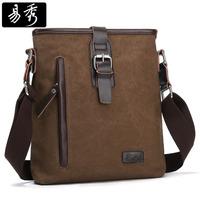 Eshow Brand men messenger bags canvas men shoulder bag vintage crossbody bag ipad bag BFK010991