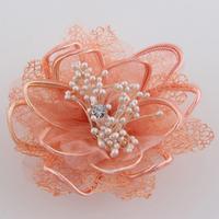 Elegant silk yarn fabric hair accessory corsage brooch dance banquet full dress